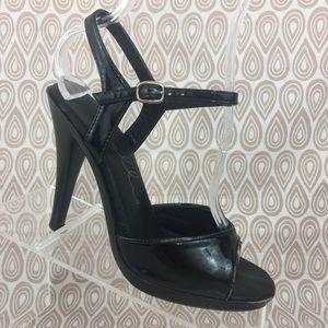 Ellie Womens Used Black Stripper High Heels S238